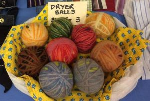 Dryer balls made from upcycled wool